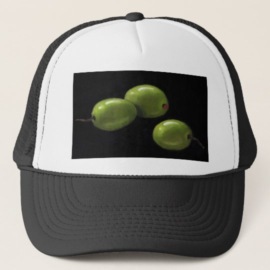 Three Olives in Oil Pastel Trucker Hat