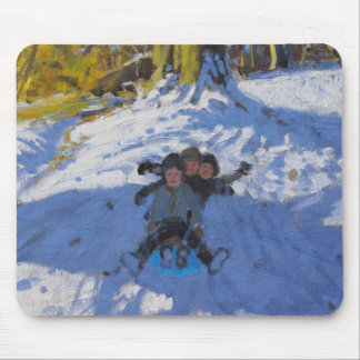 Three on a sledge Allestree Park Derby .2014 Mouse Pad