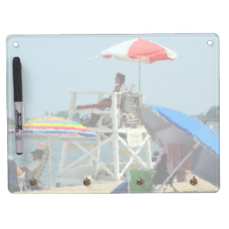 Three on the Beach Dry Erase Board With Keychain Holder