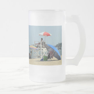 Three on the Beach Frosted Glass Beer Mug