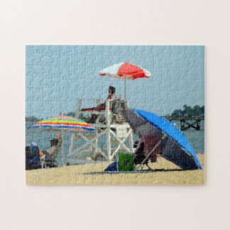 Three on the Beach Jigsaw Puzzle