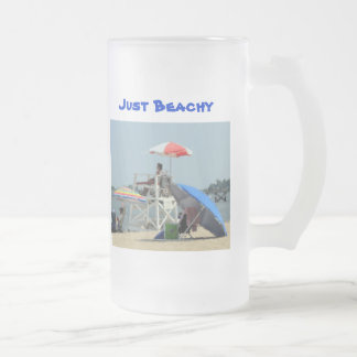 Three on the Beach Just Beachy Text Coffee Mugs