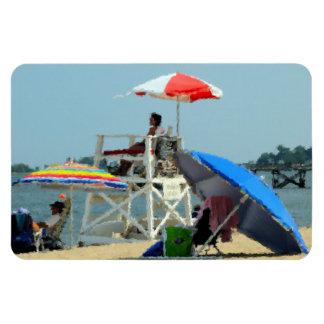 Three on the Beach Rectangular Photo Magnet