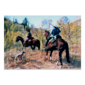 Three on Trail art by Di.Wi. Poster