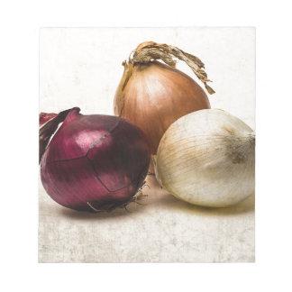 Three Onions Note Pad