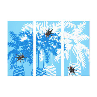 three or single you customize blue palm tarantulas canvas print