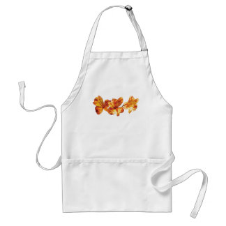 Three Orange Asiatic Lilies Adult Apron