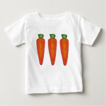 Three Orange Chocolate Carrots Spring Easter Candy Baby T-Shirt