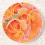Three Orange Roses coasters