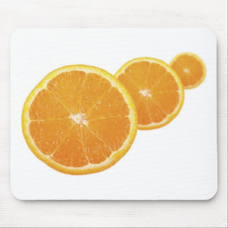 Three Orange Slices Mouse Pad