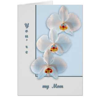 Three orchids card