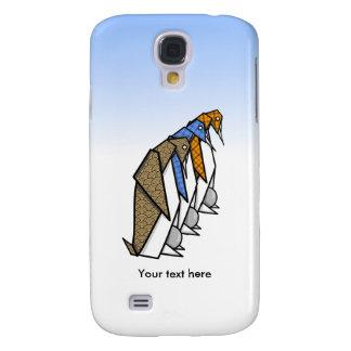 Three Origami Emperor Penguins Samsung S4 Case