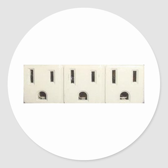 Three Outlets Classic Round Sticker
