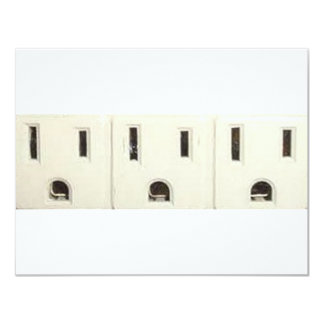 """Three Outlets 4.25"""" X 5.5"""" Invitation Card"""