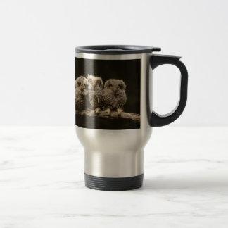 Three Owl Chicks Travel Mug