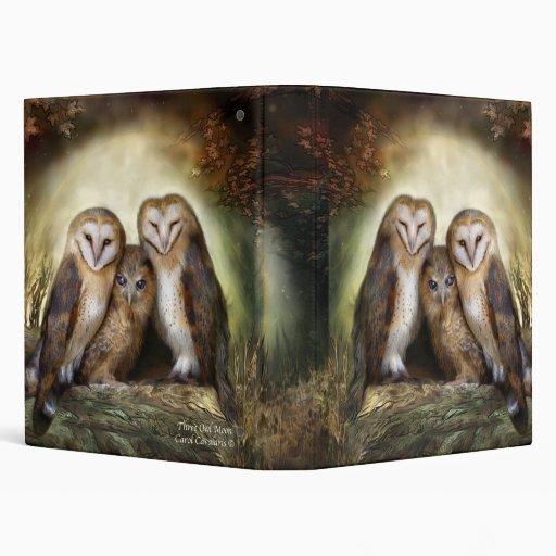 Three Owl Moon Art Binder