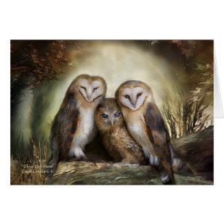 Three Owl Moon ArtCard Card