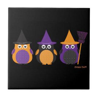 Three Owl Witches Tile