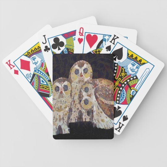 Three Owls - Art Nouveau Inspired by Klimt Bicycle Playing Cards
