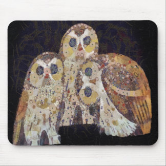 Three Owls - Art Nouveau Inspired by Klimt Mouse Pad