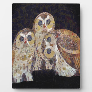 Three Owls - Art Nouveau Inspired by Klimt Display Plaques