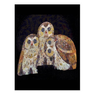 Three Owls - Art Nouveau Inspired by Klimt Postcard