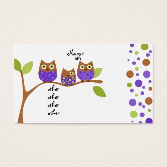 Three Owls Business Card
