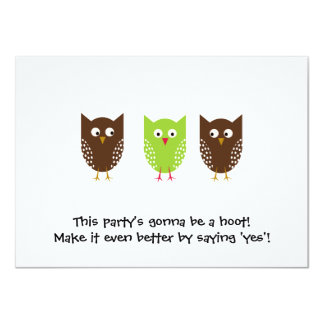 Three Owls Invitation