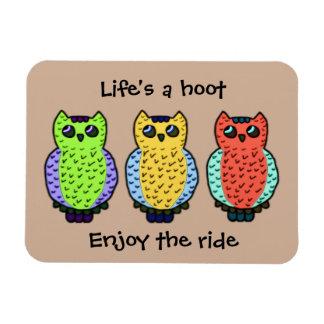 Three Owls Magnet