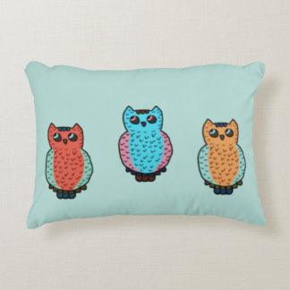 Three Owls Accent Pillow