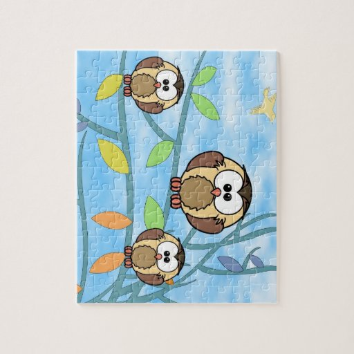 Three Owls On A Tree Branch Puzzle