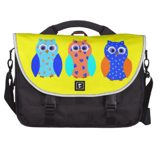 Three Owls on commuter bags