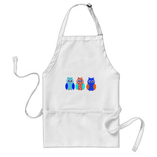 Three Owls on multiple products Adult Apron