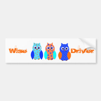 Three Owls on multiple products Car Bumper Sticker