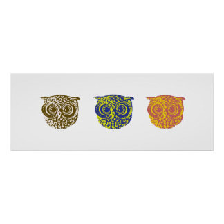 Three owls poster