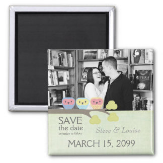Three Owls Wedding Save the Date Photo Magnet