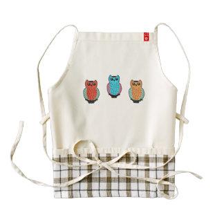 Three Owls Zazzle HEART Apron