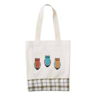 Three Owls Zazzle HEART Tote Bag
