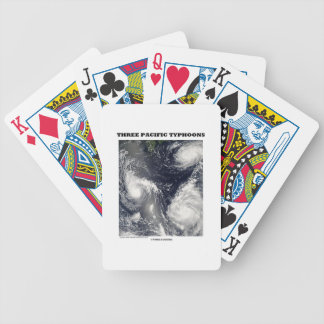 Three Pacific Typhoons Picture Earth Bicycle Playing Cards