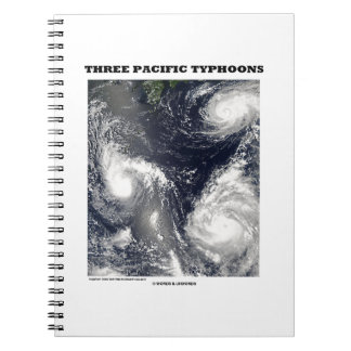 Three Pacific Typhoons Picture Earth Spiral Notebook