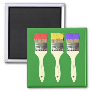 Three Paintbrushes in a Row Magnet