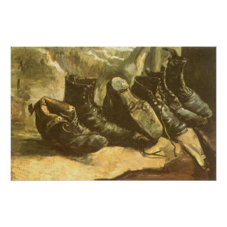 Three Pairs of Shoes by Vincent van Gogh Poster