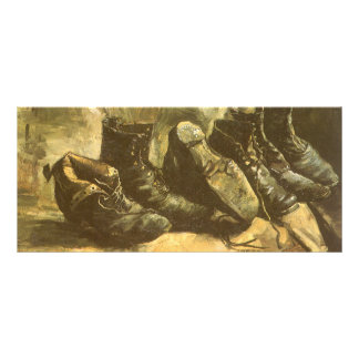 Three Pairs of Shoes by Vincent van Gogh Rack Card