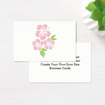 Beach Themed Three Pale Pink Hibiscus Tropical Flowers Business Card