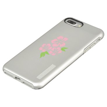 Beach Themed Three Pale Pink Hibiscus Tropical Flowers Incipio DualPro Shine iPhone 7 Plus Case