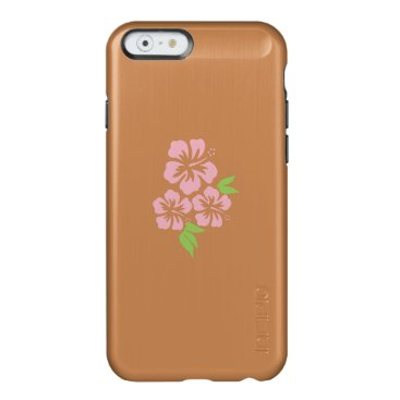 Beach Themed Three Pale Pink Hibiscus Tropical Flowers Incipio Feather Shine iPhone 6 Case