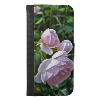 THREE PALE PINK ROSES /iPhone 6/6s Plus Wallet Cas