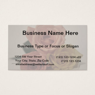 three pale roses Colored in vintage shades Business Card