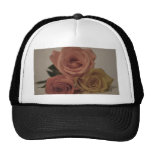 three pale roses Colored in vintage shades Trucker Hats