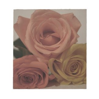 three pale roses Colored in vintage shades Memo Notepads